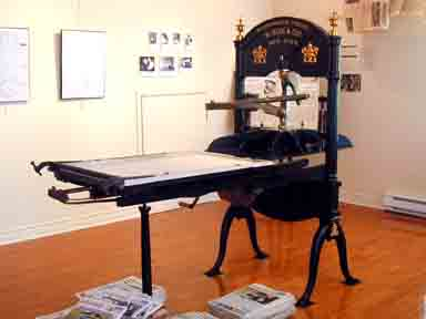 Our original printing press